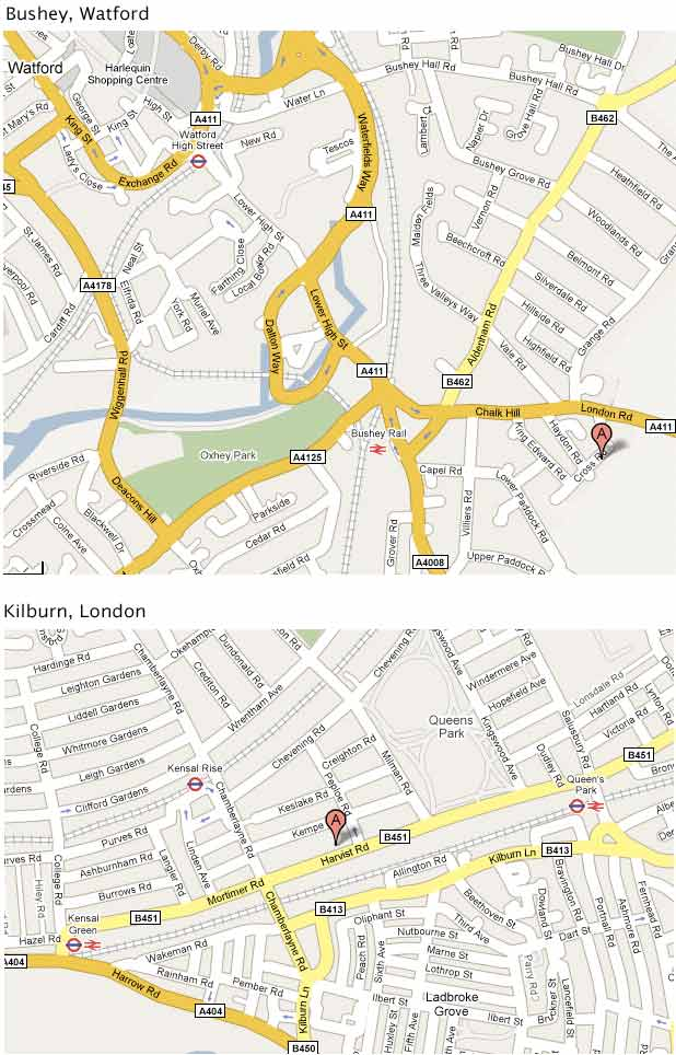 Contact, Location & Fees. Consulting Rooms Maps